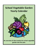 School Vegetable Garden Yearly Calendar