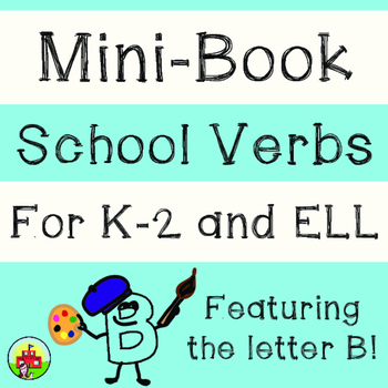 School Verbs Mini-Book (Suffix -ing/Present Participle)