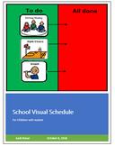 School Visual Schedule