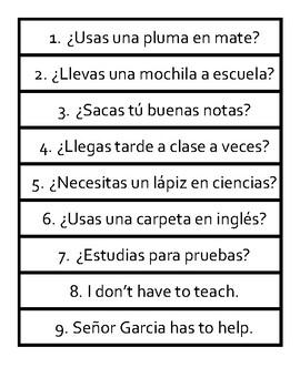 School Vocab Caramba