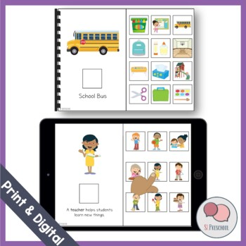 School Vocabulary Book (Preschool & Kindergarten)