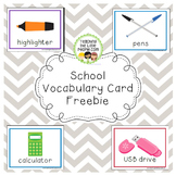 School Vocabulary Card Freebie