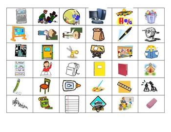 School Vocabulary Cut & Paste
