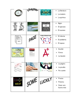 School Vocabulary Handout (accompanies Paso a Paso 2 but is editable)