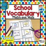 School Vocabulary Match and Write