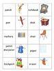School Vocabulary Memory / Concentration for ESL/ELL