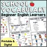 School Vocabulary Office ESL Newcomer First Phrases, Quest