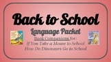 School Vocabulary Packet/Book Companion