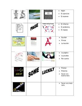 School Vocabulary - Paso a Paso 2 Chapter 1