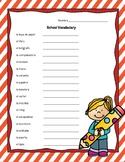 School Vocabulary - Spanish (vocabulario escolar)