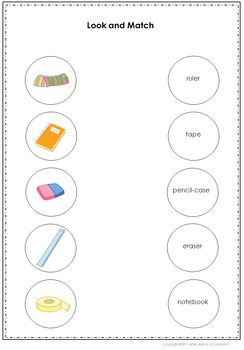 School Vocabulary Spelling Set