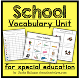 School Vocabulary Unit {for Special Education}