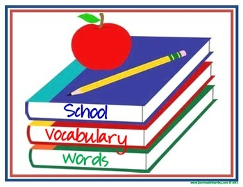 School Vocabulary Words