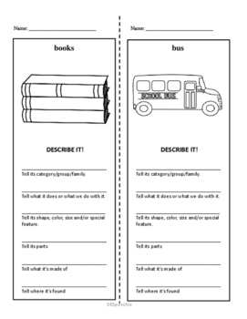 School Vocabulary Worksheets