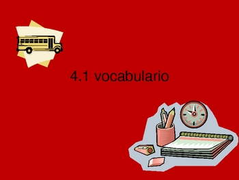 School Vocabulary in Spanish: El vocabulario para la escuela