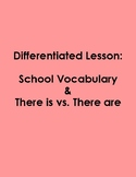 """Differentiated Lesson- """"There is vs. There are"""" with Schoo"""