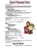 School Volunteer Form