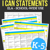 I CAN Statements, School-Wide Bundle
