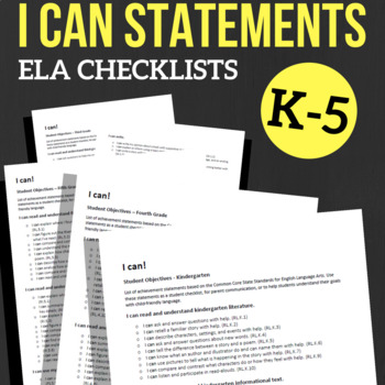 I CAN Statements, School-Wide Bundle