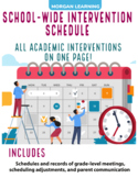 School Wide Intervention Schedule
