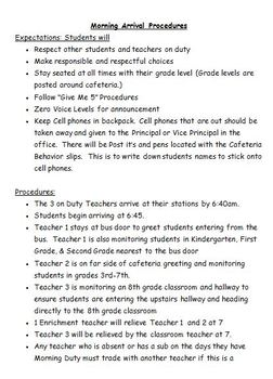 School Wide Procedures