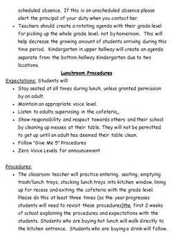 School Wide Procedures