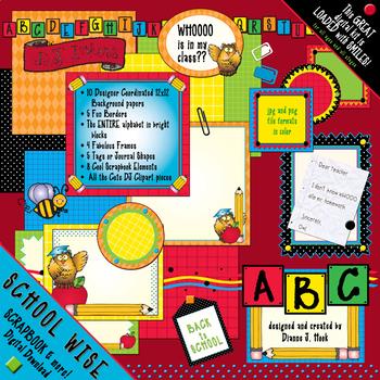 school wise digital scrapbook download by dj inkers tpt
