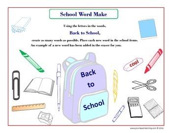 School Word Make