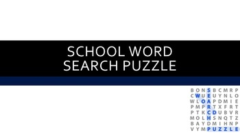 School Word Search Puzzle