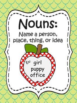 Noun and Verb Word Sort