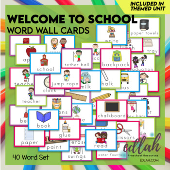 School Word Wall Cards (set of 21)