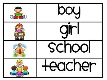 School Word Wall Words