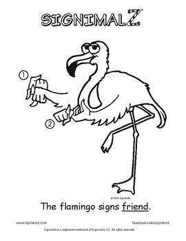 School Words Coloring Book - A Signimalz™ American Sign Language Resource