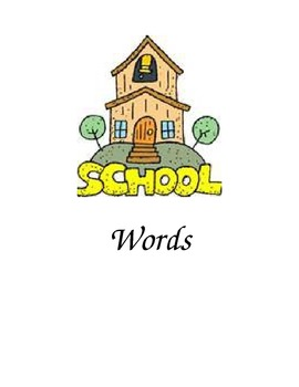 School Words Folder