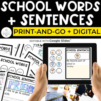 School Words (+ Sentences) Special Education