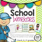 School Workers Social Studies Activity, bilingual