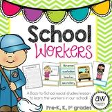School Workers Social Studies Activity, bilingual