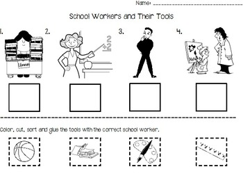 School Workers and Their Tools