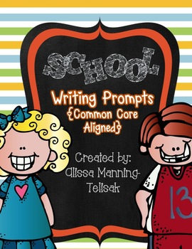 School Writing Prompts Freebie {Common Core Aligned}
