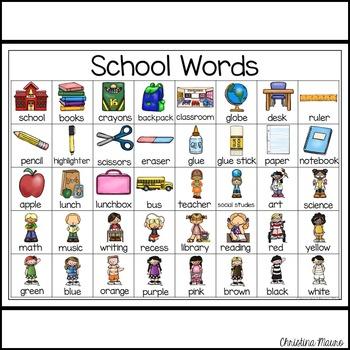 School - Writing Words