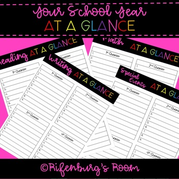 School Year At A Glance - School Year Planning - Yearly Planning