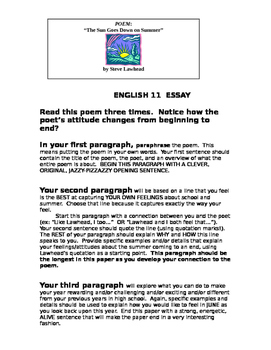 School Year Begins: Writing Assignment to get to know your students