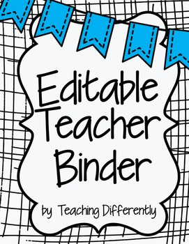 Editable Teacher Binder {Banners Theme}