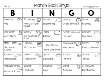 School Year Book Bingo