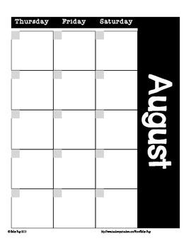 School Year Calendar