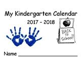 2017 - 2018 School Year Calendar with Art