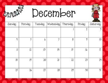 School Year Calendar 2017-2018 Editable Version