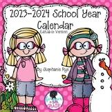 School Year Calendar 2019-2020 Editable Version