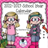 School Year Calendar 2017-2018 Editable Version