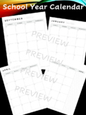 School Year Calendar- Build Your Own Planner